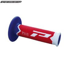 Pro Grip 788 Triple Density Full Diamond Grips Limited Edition  - White End / Red Centre / Blue Inner